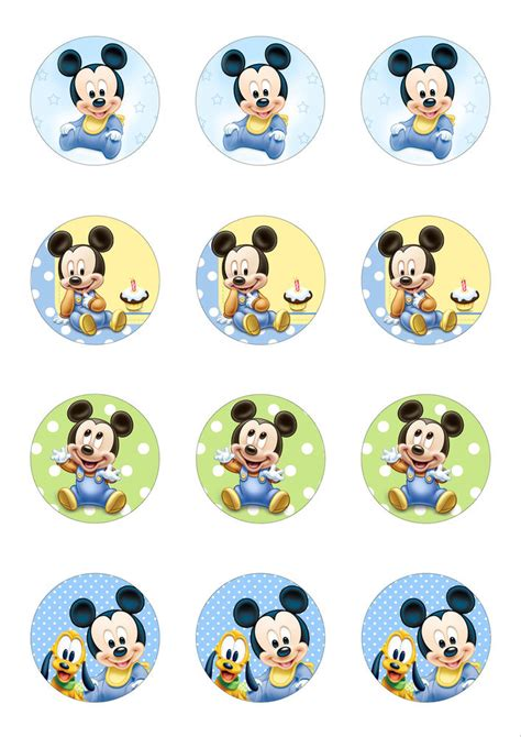 rice paper l 12 x 5cm round cute baby mickey mouse edible wafer paper