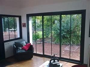 Verriere Atelier Exterieur : baie coulissante alu vue int rieure fenetres modern windows patio et windows ~ Melissatoandfro.com Idées de Décoration