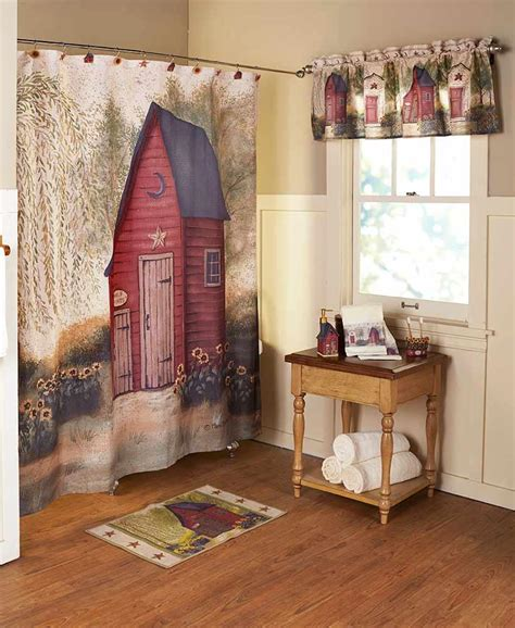 Rustic Country Primitive Outhouse Bathroom Decor