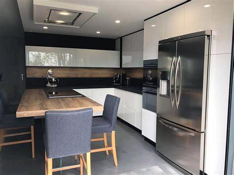 cuisine intégré frigo americain dans cuisine equipee galerie avec cuisine