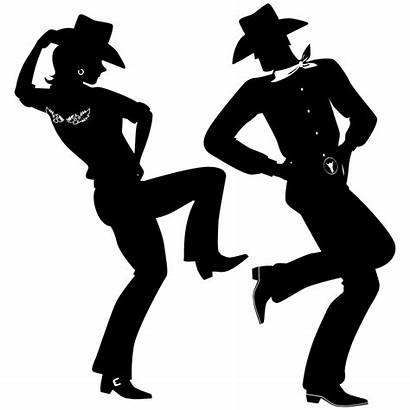 Danse Cowboy Country Stickers Silhouette Dancing Western