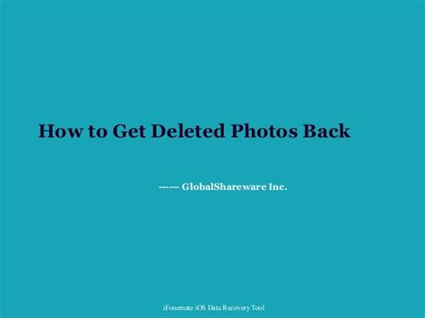 how to get deleted pictures back on iphone how to get deleted photos back on iphone
