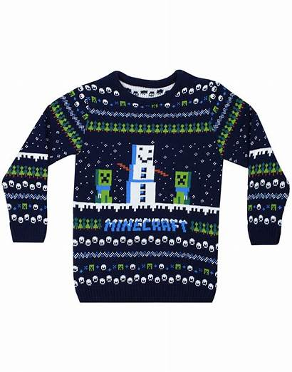 Minecraft Jumper Knitted Creeper Snow Sleeve Sweater