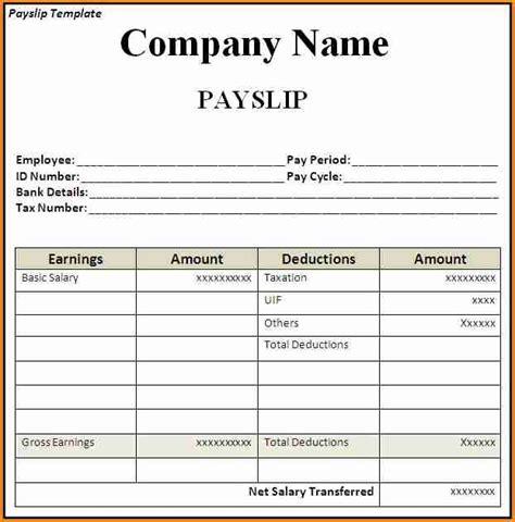 sample payroll slip simple salary slip