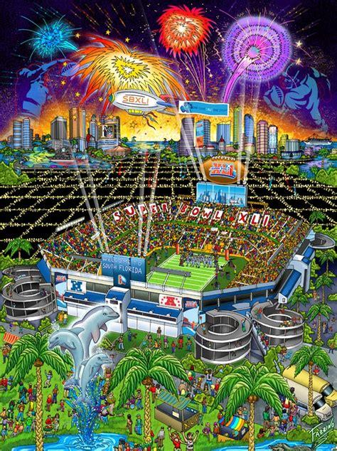 Super Bowl Xli Miami Indianapolis Colts Football Art