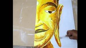 How to Paint Abstract Painting with Acrylics Lord Buddha ...