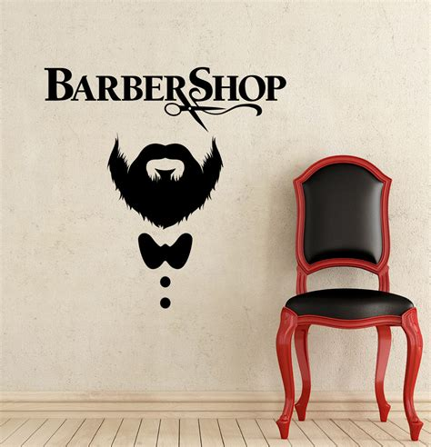 barber shop wall stickers haircut wall decal vinyl