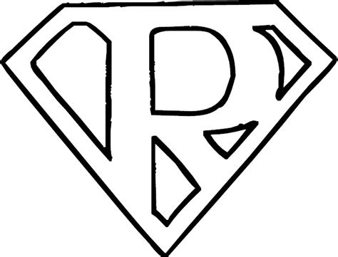 Coloring Letter R by Letter R Coloring Page