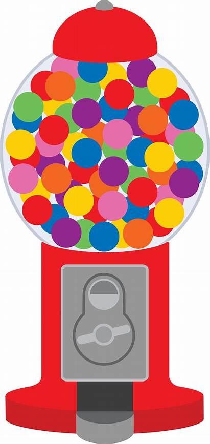 Clipart Gum Bubble Machine Cliparts Clip Chewing