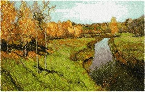 Advanced Embroidery Designs   Golden Autumn by Isaac Levitan
