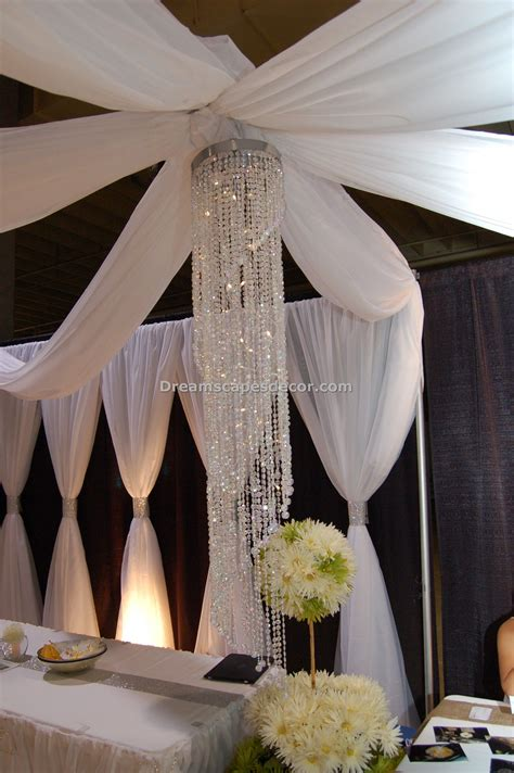 Drape Decoration - ceiling drape open canopy by dreamscape event decor