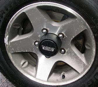Suzuki Sidekick Rims by H 72649 Suzuki Sidekick 16x6 5 Dished 5 Spoke Wheel