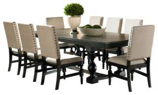 11 dining room set steve silver leona 9 dining room set in rubbed traditional dining sets by