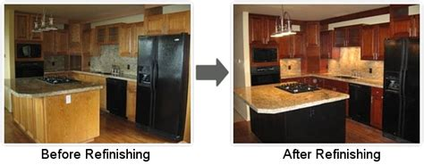 how to restain oak kitchen cabinets upscale kitchen refinishing 8892