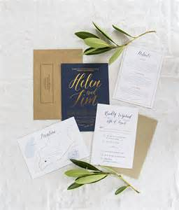 navy and gold wedding invitations gold foil and navy wedding invitations