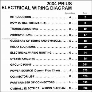 2004 Toyota Prius Wiring Diagram Manual Original