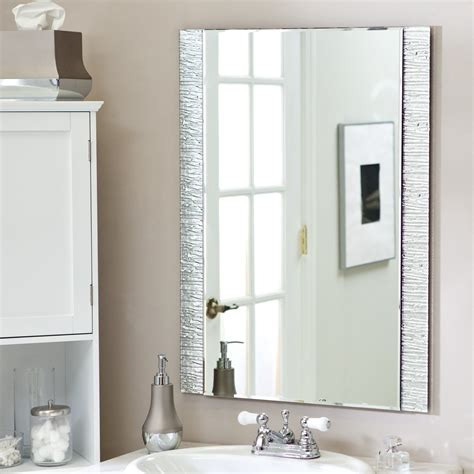 Wall Bathroom Mirrors by D 233 Cor Frameless Molten Wall Mirror 23 5w X 31