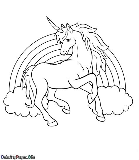 rainbow unicorn coloring pagesgallery oneunicorn learn