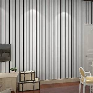 Free Shipping Non Woven Wallpaper Black And White Vertical ...