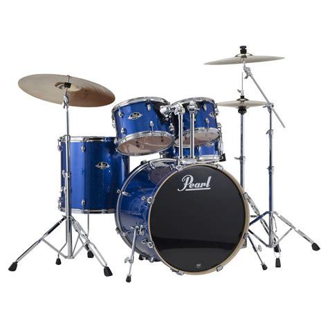 pearl export exx  rock drum kit blue sparkle
