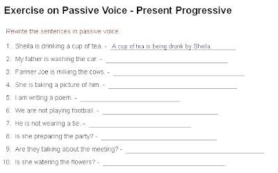 When One Teaches, Two Learn  Passive Voice Present Continuous (progressive