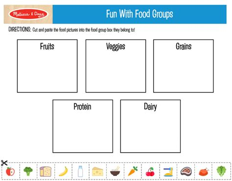 3 free printables for kids nutrition activities melissa