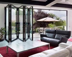 Baie Vitrée Double Vitrage : baie vitr e coulissante coulissante empilable en aluminium double vitrage cf 77 ~ Voncanada.com Idées de Décoration