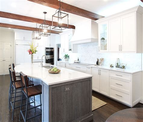 white kitchen wood island white custom kitchen cerused white oak island herringbone 1425
