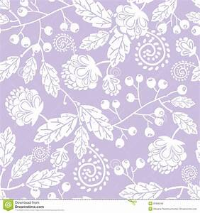 Purple Line Art Flowers Seamless Pattern Stock Vector ...