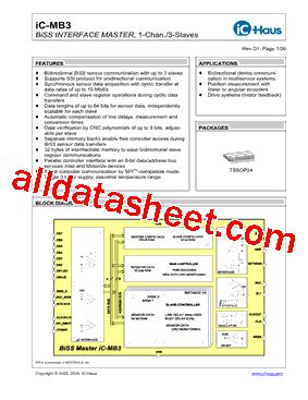 Icmb3 Datasheet(pdf)  Ichaus Gmbh
