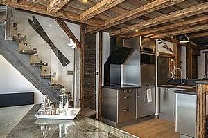 appartement basic metamorphose en chalet deco montagne With deco chalet de montagne