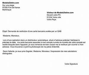 Automate Essence Carte Bancaire : demande de restitution d 39 une carte bancaire aval e par un distributeur automatique ~ Medecine-chirurgie-esthetiques.com Avis de Voitures