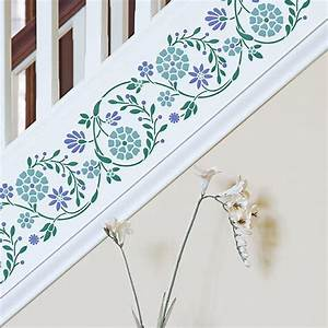 Indian Flower Wall & Furniture Border Stencil | Royal ...