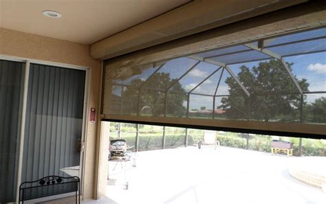 roll  hurricane screen motorized screens  hurricane protection lanais balconies