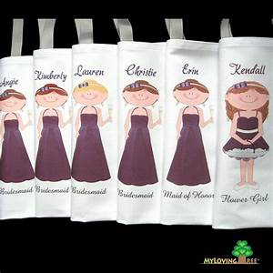 bridesmaid gift idea bridesmaids gift bags wedding or bridal With personalized wedding party gifts