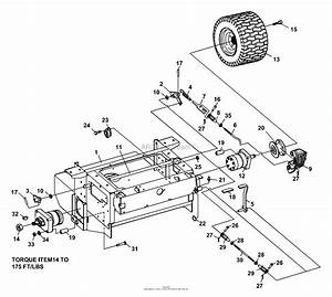 Bunton  Bobcat  Ryan 642225 Bzt 2200d W  52 U0026quot  Side Discharge Parts Diagram For Brakes  Rear Wheel