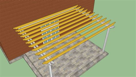 attached pergola plans howtospecialist how how to build a pergola attached to the house