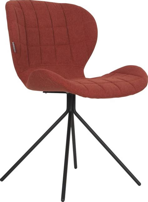 chaise zuiver zuiver dining chair omg orange 50x56x80cm lefliving com