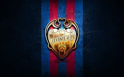 Download wallpapers Levante UD, golden logo, La Liga, blue ...