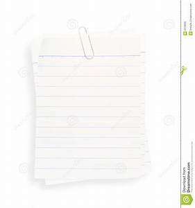 White Lined Paper(with Clipping Path) Stock Photo - Image ...