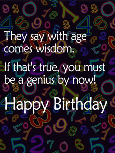 age    number funny birthday card birthday