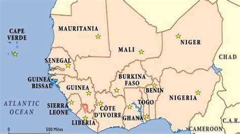 West Africa Map Youtube