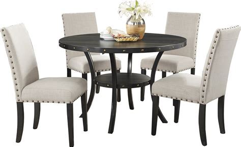 Dining : Premium And Luxury 5 Piece Dining Set With Round