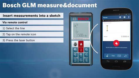 bosch measuring master bosch glm measure document app tutorial