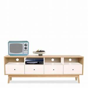 Meuble TV Scandinave 4 Tiroirs SKOLL By Drawer