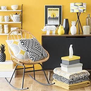 Deco Scandinave Maison Du Monde : du jaune dans la chambre et pourquoi pas mobilier canape deco ~ Preciouscoupons.com Idées de Décoration