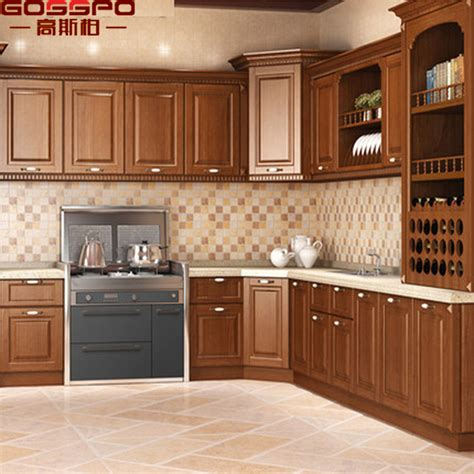 china modern simple designs wood kitchen cabinet  high