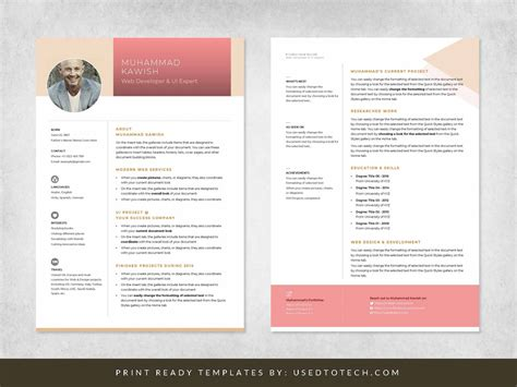 All our free personal html website template comes with all these features already installed. Personal profile design in editable Ms Word format - Used ...