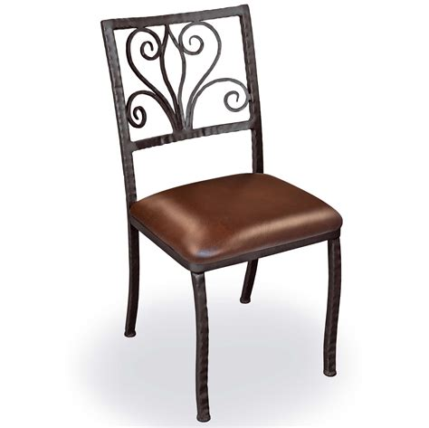 pictured is our dining side chair forged
