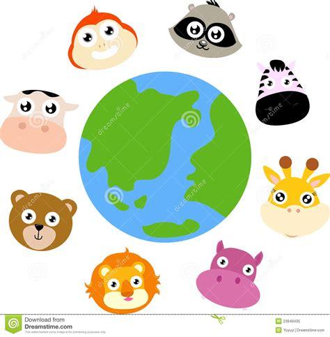 animals   globe royalty  stock photo image